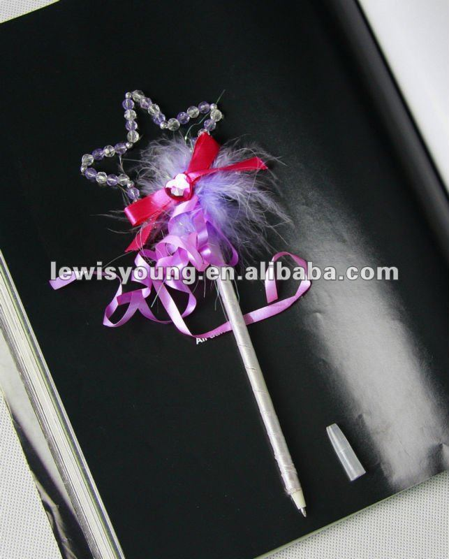Five-pointed star Pentacle crystal gift ballpoint pen for girls