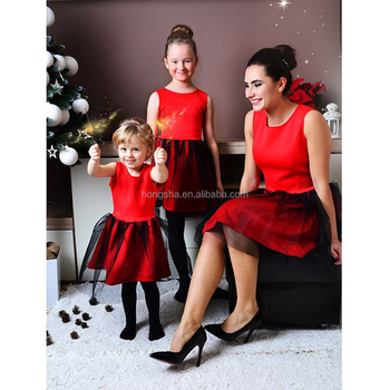 2018 Christmas Party Mommy And Me Christmas Party Tutu Dress Mother And  Daughter Matching HSD5997 033c300d9055