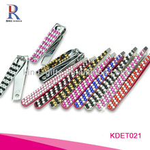 Colorful Rhinestone Slant Tweezers In Beauty And Personal Care