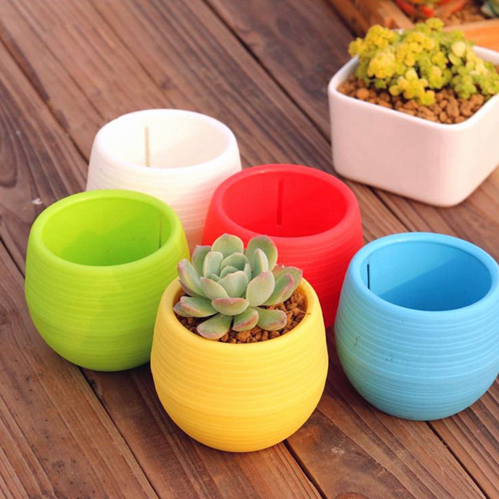 Factory Price Eco-friendly Flowerpot Gardening Round Mini Plastic Flower Pots