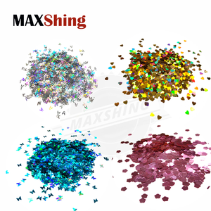 Loose wholesale colored bulk polyester glitter for decoration
