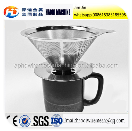 Pour Over Stainless Steel Coffee Filter Clever Hand Drip Brewer 2 Cups