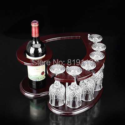amour conception de porte verre de vin vin rack gros dans. Black Bedroom Furniture Sets. Home Design Ideas
