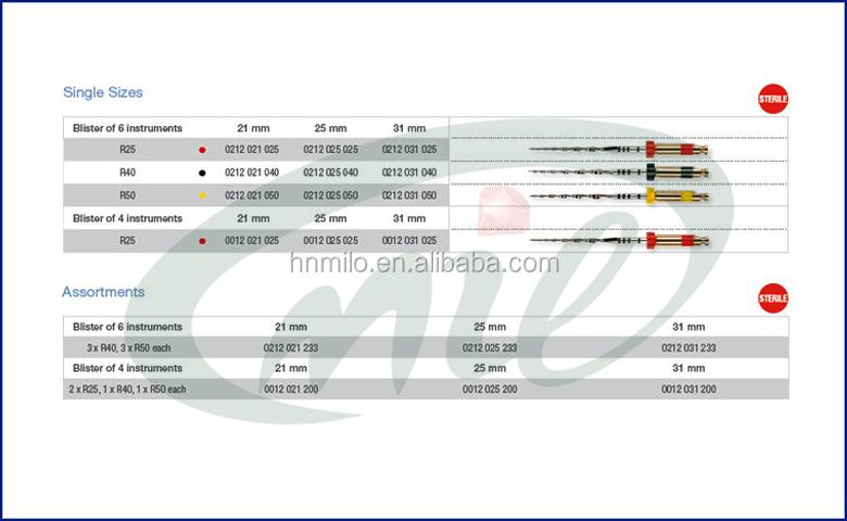 Reciproc Instruments Endo Motor Rotary Niti Files Reciproc