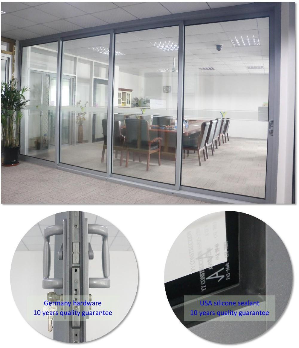 Storm resistant aluminum frame sliding glass doors from yy for Sliding glass doors germany