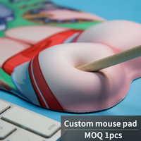 Factory OEM mousepad--- EXCO full sxxy photos girls custom breast mouse pad with wrist support