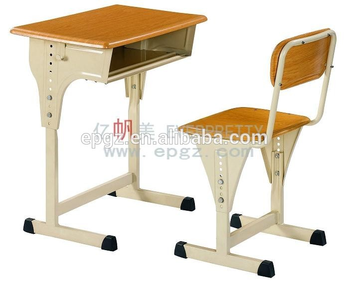 Bureau et chaise en bois pour les Élèves primaires meubles table d
