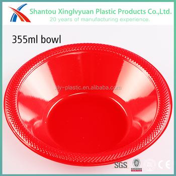 Bulk price red color round disposable plastic plates 12oz plastic bowl plastic soup bowl  sc 1 st  Shantou XingLvYuan Plastic Products Co. Ltd. - Alibaba & Bulk price red color round disposable plastic plates 12oz plastic ...