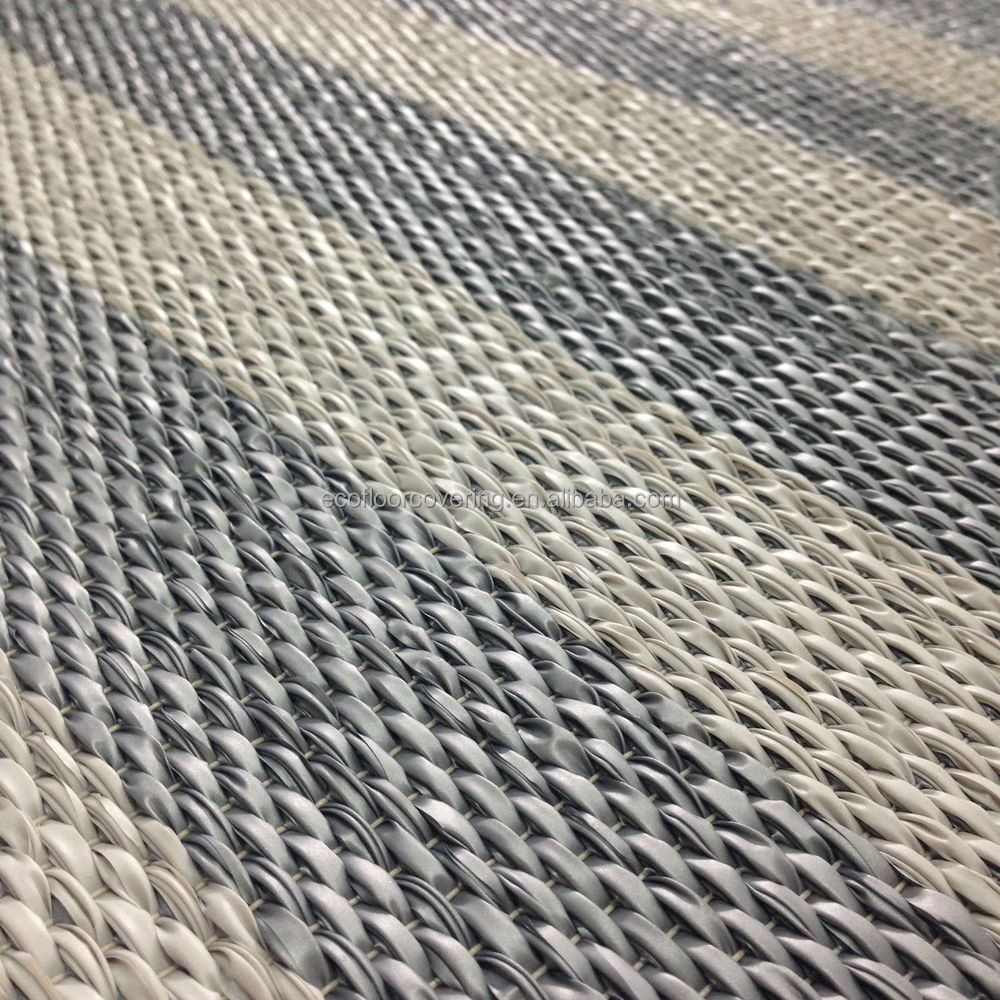 Ourdoor Pvc Flooring With Textured Woven Textile Floor