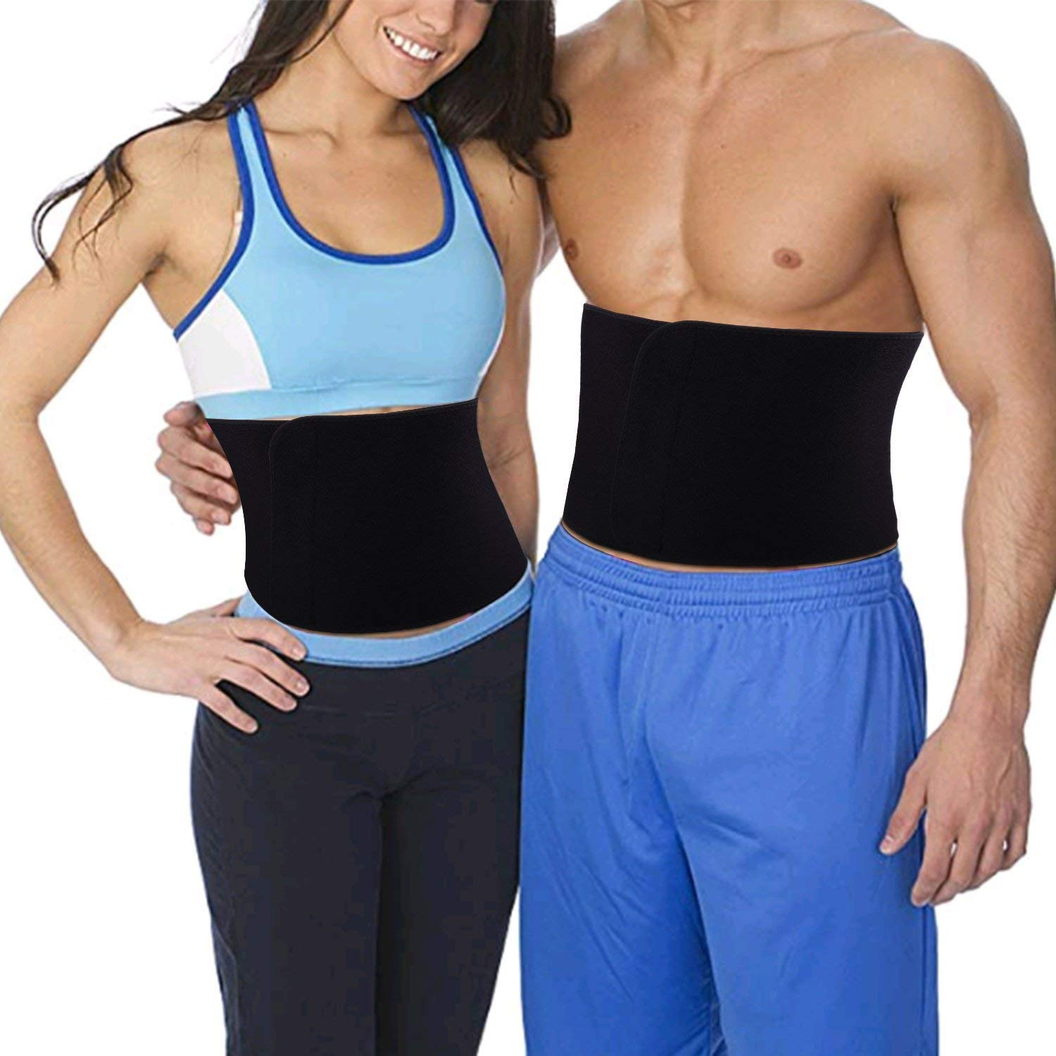 1f2e87ddc9 MAX Waist Trimmer Sweat Belt Sweat bands Adjustable Weight Loss Wrap AB  Sauna Trainer
