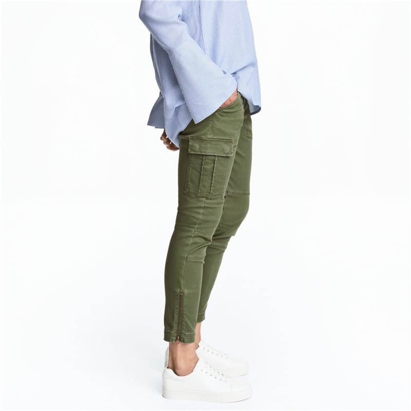 premium selection new high fantastic savings Womens Washed Khaki Green Cargo Pants Work Pants For Ladies - Buy ...