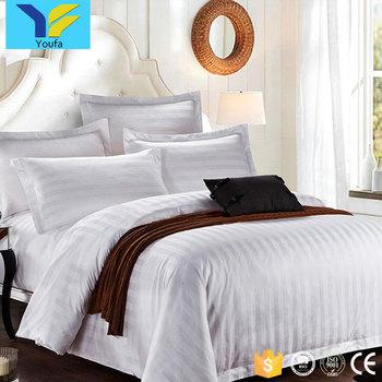 personnalisé 3 cm bande blanc hôtel linge de lit housse de couette