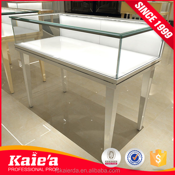 wholesale glass jewelry display table design