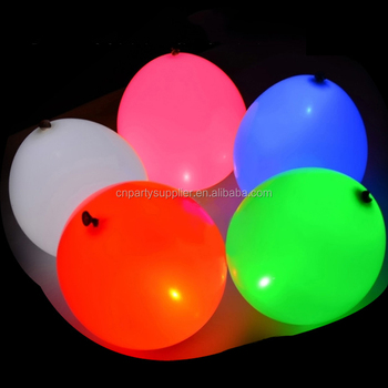 Mixed Colored 12'' Led Flashing Balloons Party Decorations