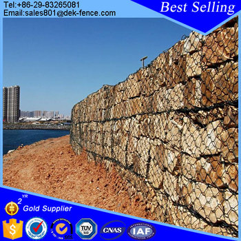 retaining wall blocks pvc coated steel wire gabion for sale