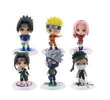 Set van 6 Stuks Mini <span class=keywords><strong>Naruto</strong></span> PVC Figure Collectible Model met Bases