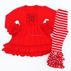 Custom baby clothing points to the ruffle outfit wholesale children's clothing boutiques girl
