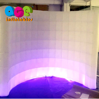 Customized LED inflatable photo booth wall inflatable air wall