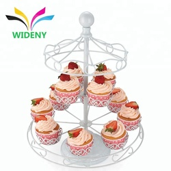 China supplies 3 tier single fancy mini wholesale wedding unique customized decorative creative metal wire cupcake stand