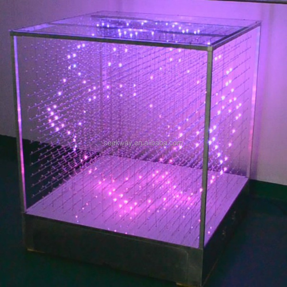 Seekway Full-color Dmx 3d Led Cube Light For Indoor Laying