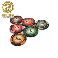 25 stks Alle Soorten Kleur Klei Texas Hold'em Chip <span class=keywords><strong>Poker</strong></span> Speelkaart <span class=keywords><strong>Chips</strong></span> Mah-jong Coin Custom <span class=keywords><strong>Chips</strong></span>