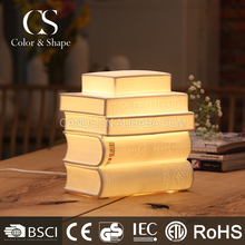 Wholesale white cheap book shape ceramic table lamps