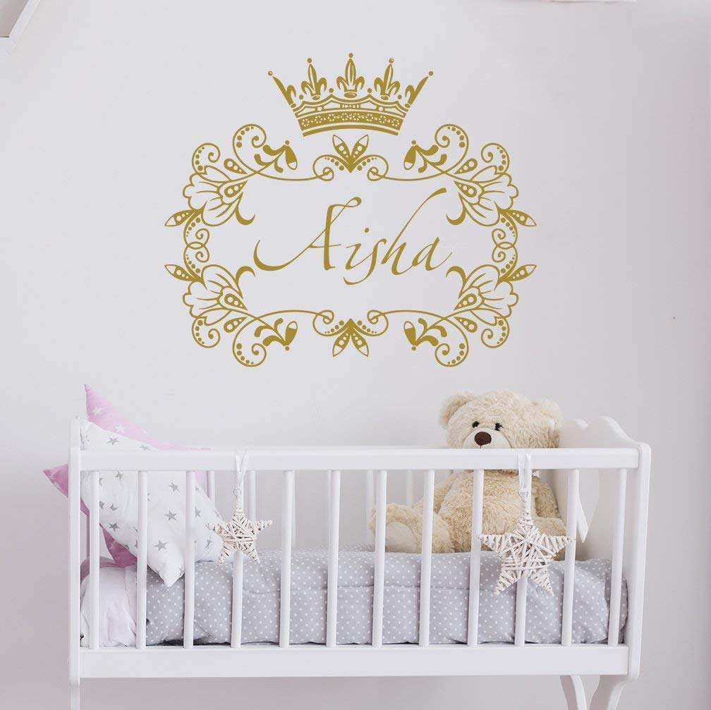 S Name Wall Decal Princess Crown Sticker Frame