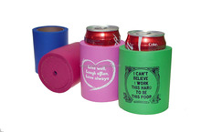 OEM funny logo Rubber foam Can Cooler drink holder beer cooler