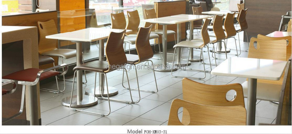 Great European Style Fast Food Restaurant Dining Table And Chairs Furniture Set  (FOH XM21  Great Ideas