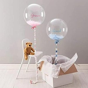 24 inch Hot sale new arrival big cheap helium LED clear custom printed perfectly round balloons delivered