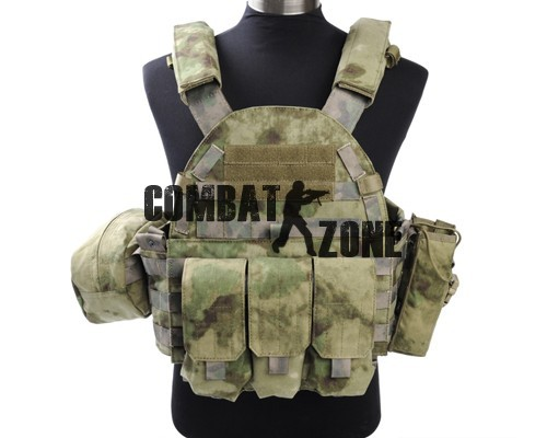 1000D High Quality Durable Nylon Fully Adjustable Mlitary Duty Tactical 6094 Style Plate Carrier Vest A-TACS FG Free Shipping