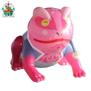 pink thinking inflatable toad large inflatable frog with a tobacco pipe