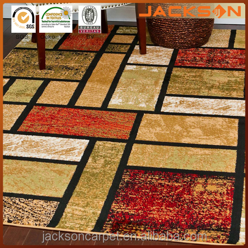 Beige Black Cream Green Rust Burgundy Abstract Modern Area Rug Carpet