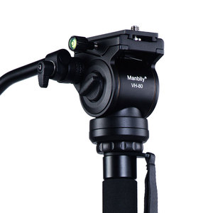 Manbily VH-80 Professional Lightweight Tripod Hydraulic Fluid Head Video Ball Head With Quick Release Plate For DSLR Camera