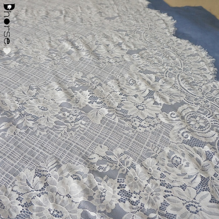 New Design Beautifical Wedding Dress Fabric French Lace Bridal Embroidered French lace DHFL0703