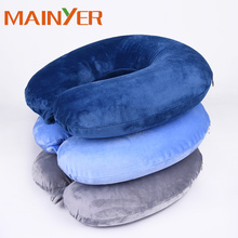 Luxurious Velvet Fabrics Memory Foam U Shape Travel Neck pillow