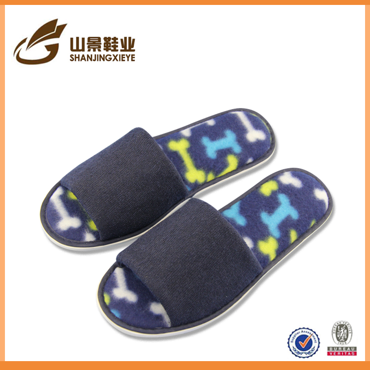 made in china EVA disposable cotton fabric hotel slippers