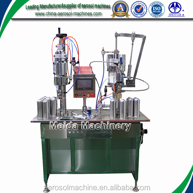 semi automatic shaving gel bag-on-valve aerosol filler/aerosol filling machine