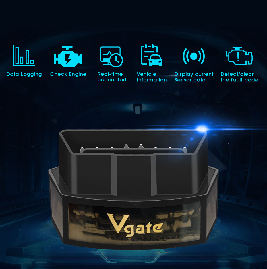 Vgate iCar Pro bluetooth 4.0 BLE obd2 Scan for Android and iOS