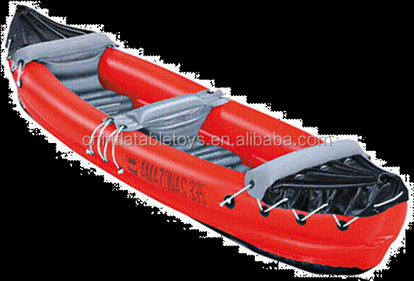 Factory plastic inflatable canoe , pontoon in any shape size