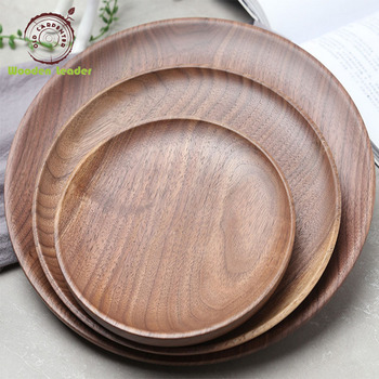 Wholesale Natural Wood Plate Customized Food Wooden Plate