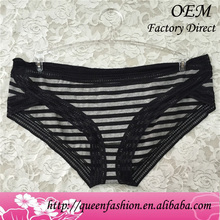 Stripe cotton underwear for women custom different styles of womens panties short panties