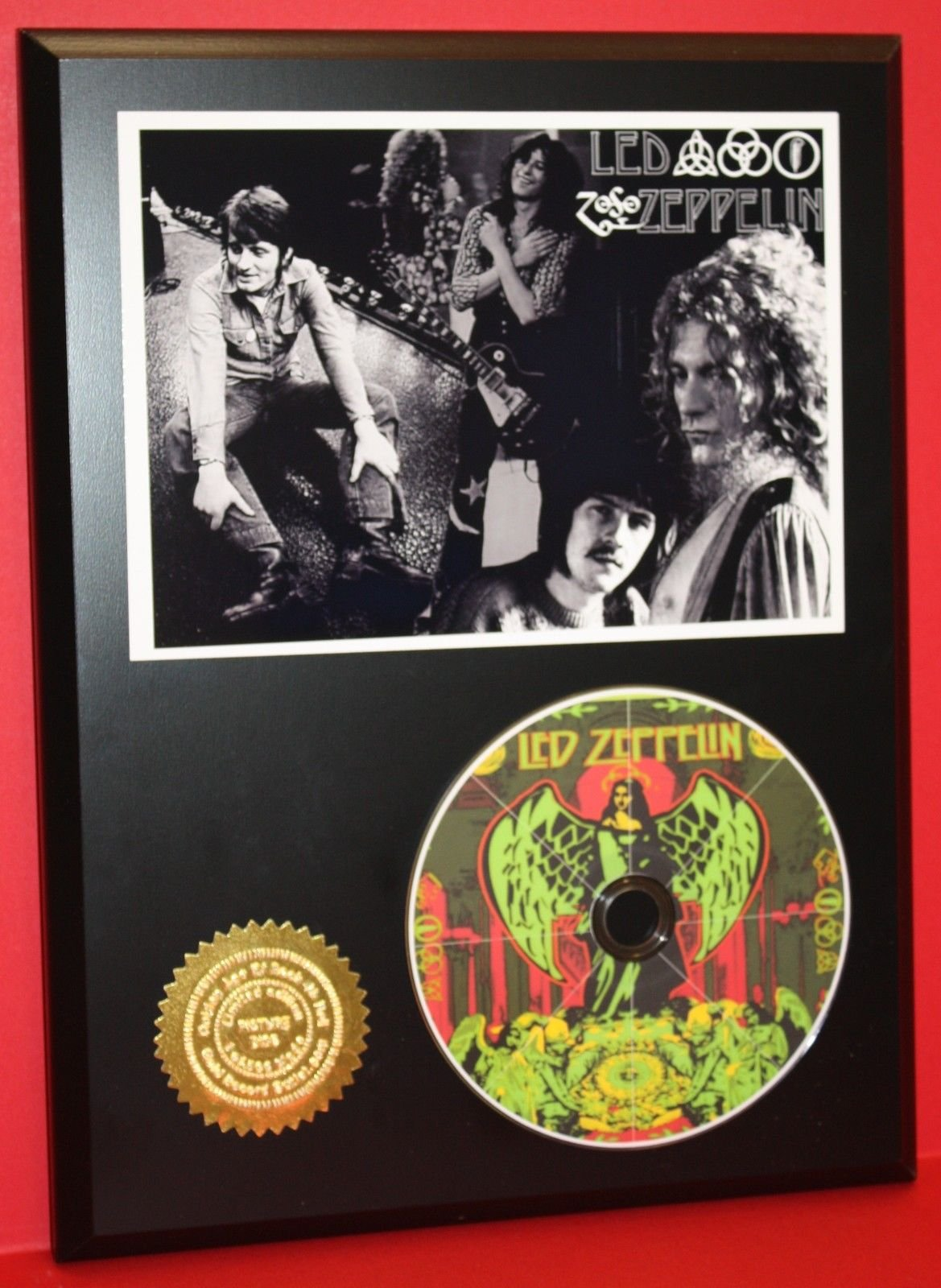 LED ZEPPELIN LIMITED EDITION PICTURE CD DISC COLLECTIBLE RARE GIFT WALL ART