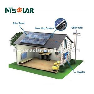 3KW 5KW 8KW 10KW Home Solar power System Roof Top Mounting Solar Energy Generating System for Home Used