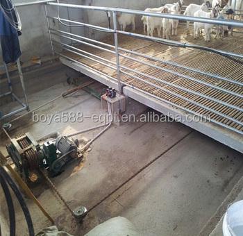 Manure Remove Scraper Machine For Pvc Slat Floor Broiler