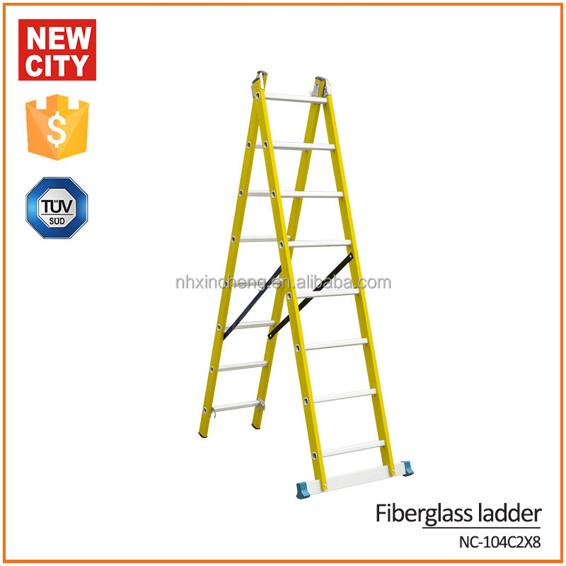 The king of quantity high insulation 16 step aluminum ladder for outdoor use