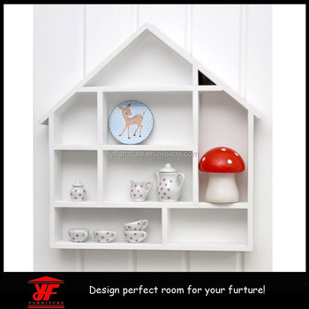 Children Furniture Eco Friendly Fancy House Shape Wood Display Shelf Buy House Shape Wood Display Shelfs Shape Wall Shelfwall Mounted Display Wood