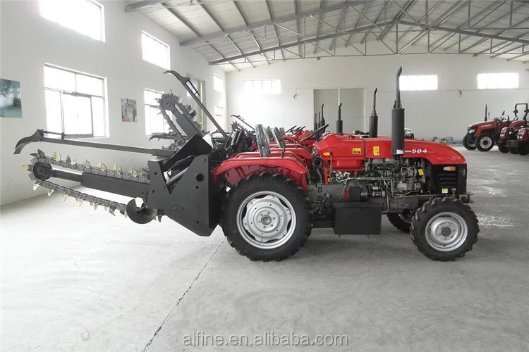 Chain type good quality lower price trencher tractor pto sale