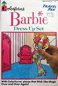 Colorforms BARBIE Dress Up Set Travel Pak (1989)