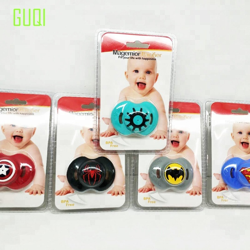 Various colors patterns cute style plastic material personalized baby pacify pacifier